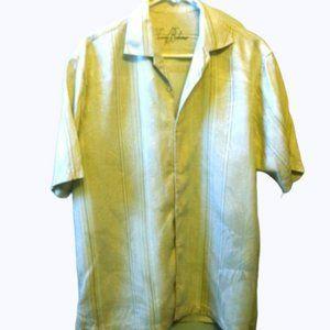 Tommy Bahama Shirt Silk Jacquard Hawaiian Med